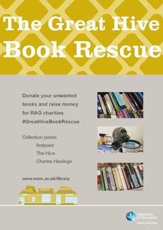 The Great Hive Book Rescue poster A3 with clarendon