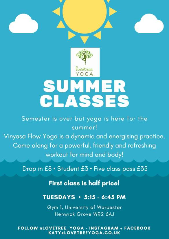 Lovetree Yoga_Summer Classes 2018_Poster for Reception