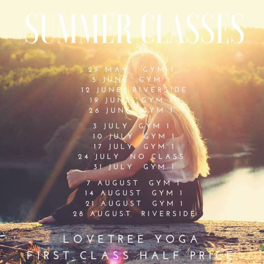 Lovetree Yoga_Summer Class Schedule