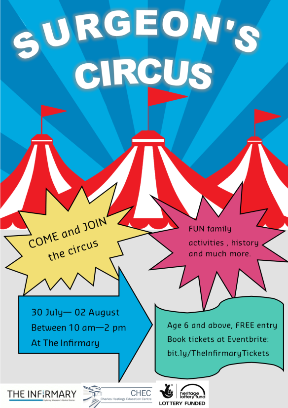 Surgeon's circus poster