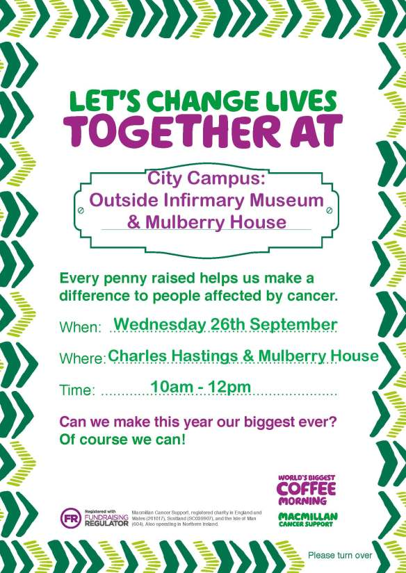Macmillan Coffee Morning - Partnerships