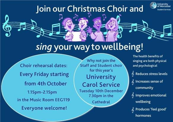 Landscape Choir wellbeing poster 2019