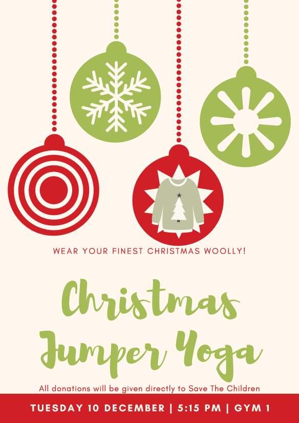 Christmas Jumper Yoga Dec 2019 Fundraising Poster